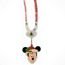 Disney Parks Light-Up Christmas Santa Mickey Mouse Holidays Lanyard Necklace