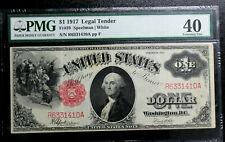 1917 $1 United States Legal Tender Fr 39  PMG 40 Extremely Fine SAWHORSE BRIGHT!