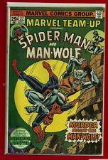 Marvel Team-Up # 37 Bronze Age Spider-Man / Man-Wolf Nice Fine
