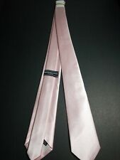 (2) Manzini Neckwear Collection Solid Color Pink Classic Mens Neckwear. NEW