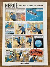 Affiche 'Tintin Coke en Stock' - Casterman - grand format 70 x 50