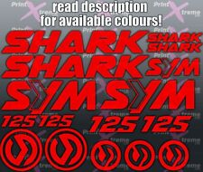 Sym Shark 125 Decals Stickers set Motorcycle Scooter Racing Choice of 16 Colours