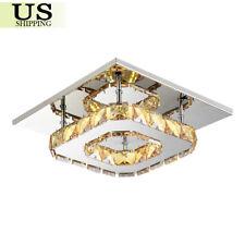 Pendant Ceiling Lamp Crystal Fixture LED Light Chandelier Flush Mount Lighting