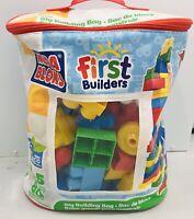 Mega Bloks First Building Blocks Classic Big Bag 80 Piece Kids Builders Toy Set