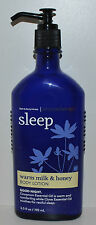 NEW BATH & BODY WORKS AROMATHERAPY SLEEP WARM MILK HONEY CREAM LOTION PUMP 6.5OZ