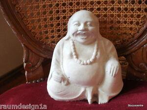 Stucco Gartenfigur lachender Buddha aus Beton 150-1502b Aussenfigur Deko 4,5 KG