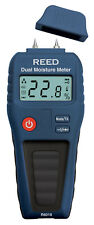 REED R6018 Dual Moisture Meter, Pin/Pinless for Wood and Building Materials