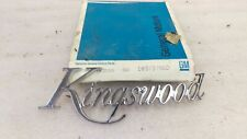 Chevrolet KINGSWOOD ESTATE wagon EMBLEM set 8737960 8737961 logos NOS 69-72