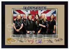 NEW! Iron Maiden Rock Music Framed Photo PRINT signed autograph POSTER Perfect