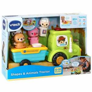 vTech Baby Shapes & Animals Tractor Shape Sorting Toy with Sound and Music