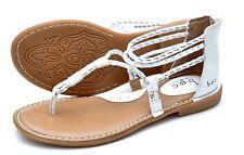 BOC Born Concept Sedge White Gladiator Sandals Women Size 8m