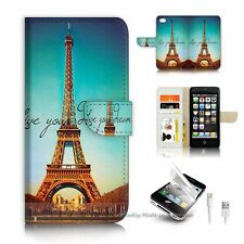 ( For iPhone 5 / 5S / SE ) Wallet Case Cover P6213 Paris Eiffel Tower
