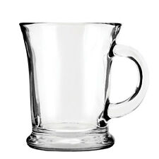 Anchor Hocking 83037 Set of 6 Glass Mocha Mugs - Tea Coffee Cups