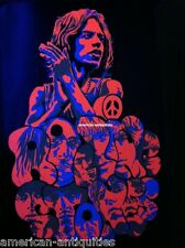 Rolling Stones Mick Jagger Psychedelic Art Blacklight Poster Woodstock