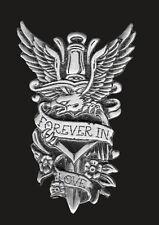 Dagger Heart Pin JACKET VEST PEWTER  BIKER PIN