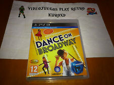 PLAY STATION 3 PS3 DANCE ON BROADWAY NUEVO PRECINTADO PAL ESPAÑA
