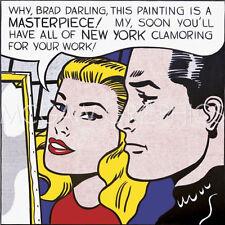 """LICHTENSTEIN ROY - MASTERPIECE 1962 - Artwork Reproduction 11"""" x 14"""" (599)"""