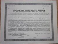 Railroad Bond Certificate: 'Delaware & Hudson Railway Company' RR
