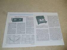 SAE Mark 2500, XXV, Power Amp Review, 1976, Full Test