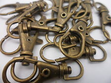 10 x Large Bronze Swivel Lobster Clasps, 35mm long x 15mm wide~Craft,Findings