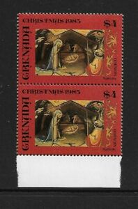 1985 Grenada - Christmas Issue - Horizontal Pair - Mint and Never Hinged.