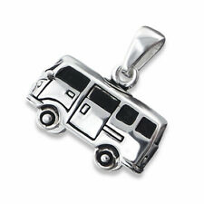 925 Sterling Silver Campervan Pendant Necklace Design 2 (Chain Included)