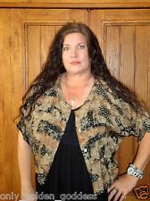 tienda ho blouse jacket black browns