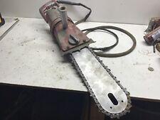 Vintage Mall model No 11E12 electric chain saw runs good cord