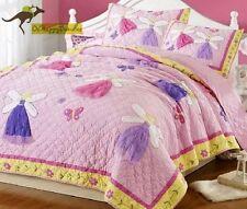 Girls 2 Pcs Cotton Patchwork Quilt Sham Single Bedding Sets - Princess Fairy