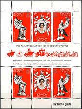 Islas Salomón 1978 SG#357a QEII coronación 25th Aniversario estampillada sin montar o nunca montada Sheetlet #D36444