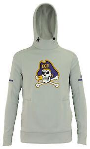 adidas NCAA Women's East Carolina Pirates Climawarm Team Fleece Hoodie, Stone