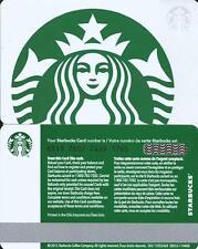 STARBUCKS GREEN & WHITE SIREN # 6115 MINT GIFT CARD FROM CANADA BILINGUAL 2015