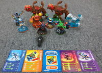 Lot of 9 Activision Skylanders Video Game Figures plus Cards - Collection