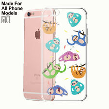 Sloth TPU Phone Case for iPhone 8 8plus X 7 6 6s Plus Galaxy S7 edge Note 8 HTC