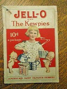 Original 1915 JELLO and the KEWPIES advertising cook booklet-Rose O'Neill