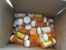 New listing Lot Of 40 Empty Amber Prescription Rx Pill Bottles Crafts Fishing Storage Hobby