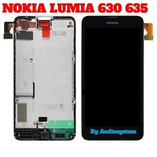 DISPLAY LCD+ TOUCH SCREEN+ FRAME per NOKIA LUMIA 630 635 COVER RICAMBIO VETRO