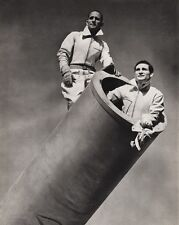 1940's Vintage 16x20 CIRCUS CARNIVAL Human Cannonball Ringling Bros. Photo Art