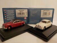 Model Car, Jaguar Mk2 set - Red - White, 1/76 New