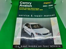 Camry, Avalon 2002-2006 Service and Repair Manual
