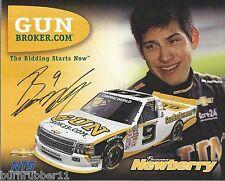 "SIGNED 2014 BRENNAN NEWBERRY ""GUNBROKER NTS MOTORSPORT"" #9 NASCAR TRUCK POSTCARD"