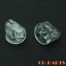 Transparent set Pointer Knob for Guitar Bass Effect Pedal Overdrive 19x15mm 2PCS