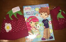 Claire's Little Girls 3 4 5 6 Strawberry Hat Gloves Shortcake Coloring Book Nwt