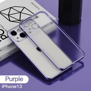 For iPhone 12 Pro Max 11 XR X 8 7 Plus Shockproof Matte Clear Plating Case Cover