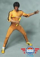 1/6 scale Bruce Lee Game of Death Yellow Suit w/ NunChaku for 12'' MALE Figure