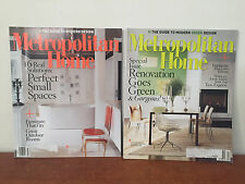 Metropolitan Home Magazine Back Issues 2008 Small Spaces Green Renovation Design