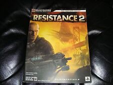 Resistance 2 Brady Games Signature Strategy Guide hint book Playstation 3 PS3