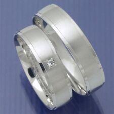 Weissgold Trauringe Eheringe Hochzeitsringe mit glänzenden Absätzen PA219487