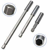 3x 60 100 150mm 1/4 Hex Quick Release Magnetic Screwdriver Extension Bit Holder