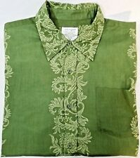Womens Medium Button Front Shirt Life Is Good Do What You Like Green